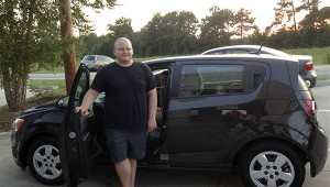Submitted photo Brandon Balli is the oldest of nine children and before Aug. 23, he had never owned a car. Balli won the free car giveaway at Mossy of Picayune.