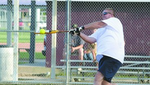 TOURNAMENT: In this file photo a participant hits a softball. This Saturday a softball tournament will be held to raise funds to help fund operations and repairs at the park. Photo by Jeremy Pittari