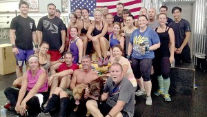 DOG DAY: This group of CrossFit enthusiasts donated hundreds of pounds of dog food to the Pearl River County SPCA, after using the 20 and 40 pound bags as part of their workout. Submitted photo