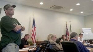 Photo by Cassandra Favre Poplarville's code enforcement officer, Guy Ray, held a public hearing at Tuesday's Board of Alderman meeting. The hearings concerned his analysis of blighted properties around the city.