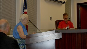 Photo by Cassandra Favre Constitution Week chairman and member of the Picayune Chapter of the Daughters of the American Revolution Margaret Anne Ulerich read aloud the resolution proclaiming the week of September 17-23 as Constitution. The council approved the request at Tuesday's city council meeting.