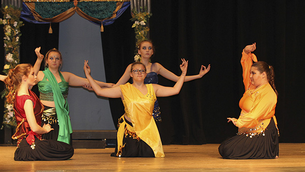 """THE BLUE MASKERS: This is a scene from Pearl River Central High School's Blue Maskers performance of """"Shakuntala and the Ring of Recollection."""" The group will advance to state competition and also won for best costume design.  Photo submitted"""