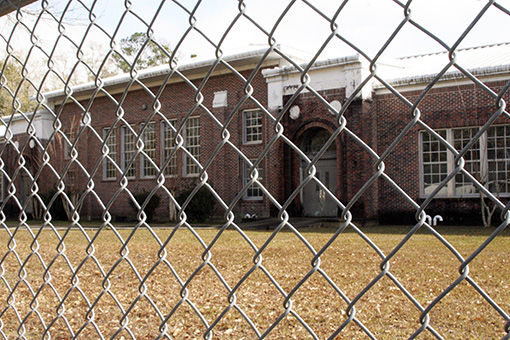 EMPTY SCHOOL: The former East Side Elementary School sits on North Haugh Avenue and is considered the oldest facility owned by the Picayune School District. Photo by Ashley Collins.